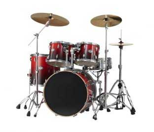 Red/Black Fade Drumkit
